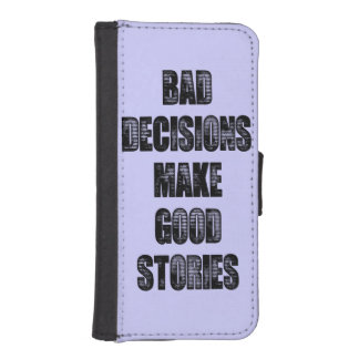 BAD DECISIONS iPhone SE/5/5s WALLET CASE