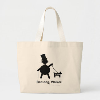 Bad dog walker large tote bag