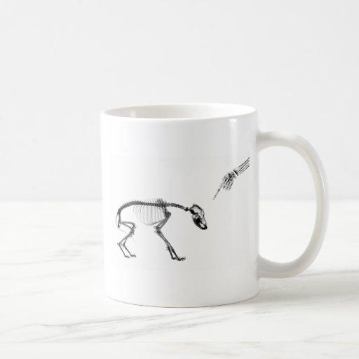 Bad Dog X-Ray Skeleton in Black & White Mugs