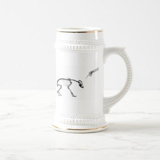 Bad Dog X-Ray Skeleton in Black & White Coffee Mugs
