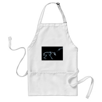 Bad Dog Xray Skeleton Black Blue Standard Apron
