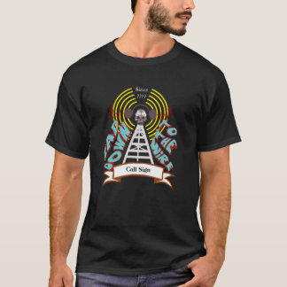 Bad Down To The Wire Ham Radio Biker Style T-shirt