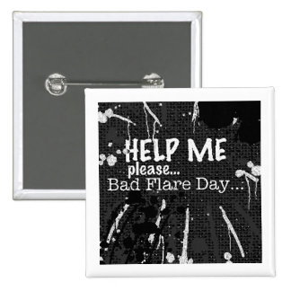 bad flare day bw button badge pin