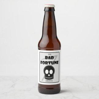 Bad Fortune custom beer bottle labels