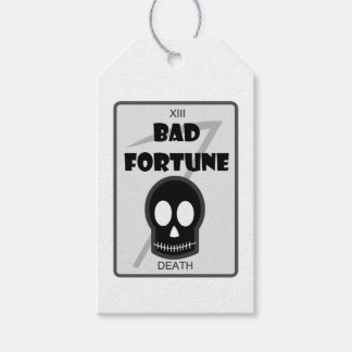 Bad Fortune parcel tag