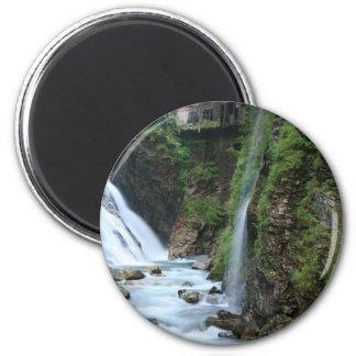 Bad Gastein upper falls 6 Cm Round Magnet