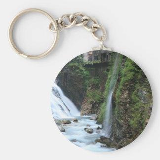 Bad Gastein upper falls Basic Round Button Key Ring