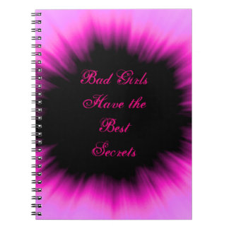 Bad Girls Have the Best Secrets Pink & Black Diary Notebooks