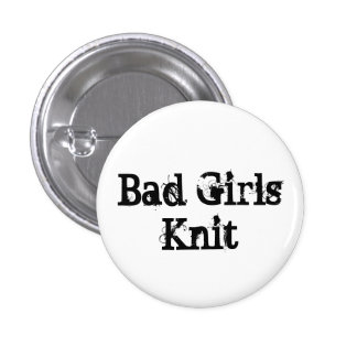 Bad Girls Knit 3 Cm Round Badge