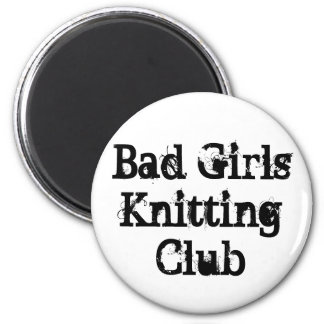 Bad Girls Knitting Club 6 Cm Round Magnet
