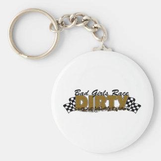 Bad Girls Race Dirty Keychains