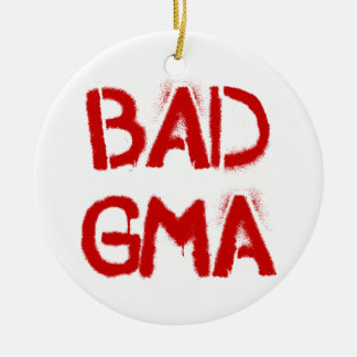 Bad Gma Double-Sided Ceramic Round Christmas Ornament