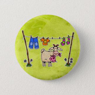 bad goat 6 cm round badge