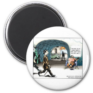 """""""Bad Guitarist"""" Funny Cartoon Gifts & Collectibles 6 Cm Round Magnet"""
