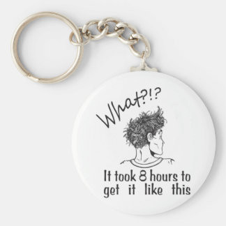 Bad Hair Day / BedHead Basic Round Button Key Ring