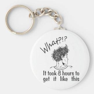 Bad Hair Day / BedHead Basic Round Button Key Ring