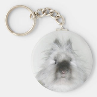 Bad hair day bunny keychain