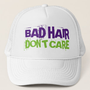 deb164e2c96 Bad Hair Day Don t Care Funny Trucker Hat