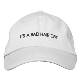 BAD HAIR DAY EMBROIDERED BASEBALL CAPS