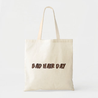 Bad Hair Day Funny Realistic Hair Typography Tote Bag