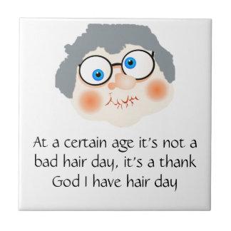 Bad Hair Day Granny Ceramic Tiles