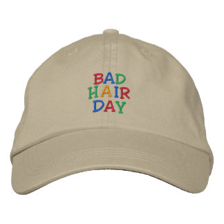 BAD HAIR DAY HAT EMBROIDERED BASEBALL CAPS