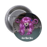 Bad Hair Day Pinback Buttons