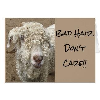 Bad hair don't care! card