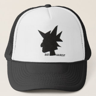 bad haircut trucker hat