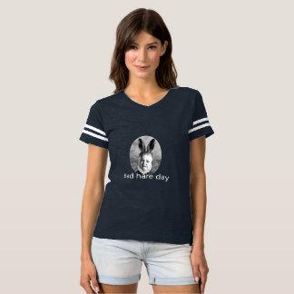 Bad Hare Day Ladies Football T-shirt