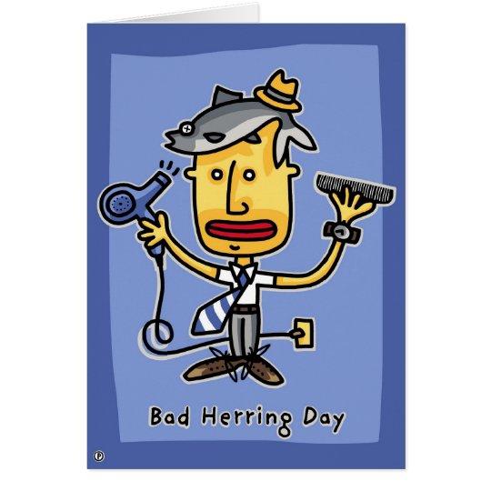 bad herring day card