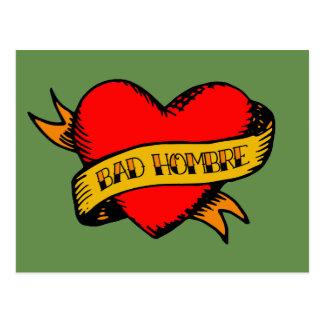 Bad Hombre Tattoo Postcard