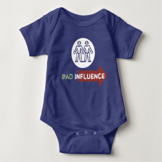 """Bad Influence"" Twin Baby Bodysuit"