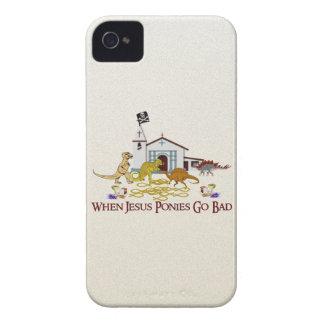 Bad Jesus Ponies Case-Mate iPhone 4 Case