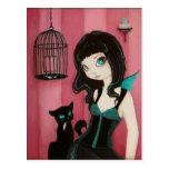 Bad Kitty - Fairy Postcard