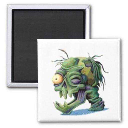 Bad Looking Green Head Fridge Magnets