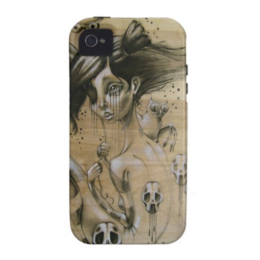 """""""Bad Memories"""" iphone hard case with silicone wrap Vibe iPhone 4 Case"""