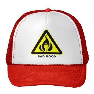 Bad Mood Warning Sign Cap Trucker Hat