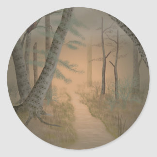 Bad Moon Rising Classic Round Sticker