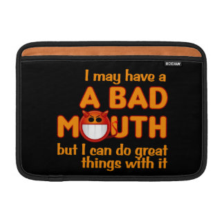 Bad Mouth iPad / laptop sleeve Sleeves For MacBook Air