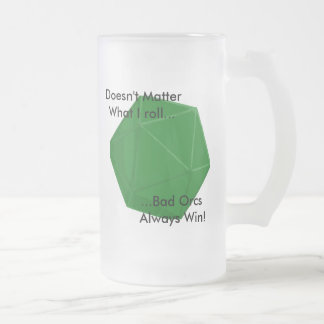 Bad Orc Frosted Glass Mug