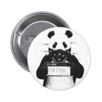 Bad panda 6 cm round badge