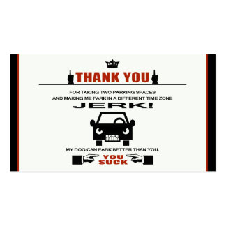 Bad Parking Double-Sided Standard Business Cards (Pack Of 100)