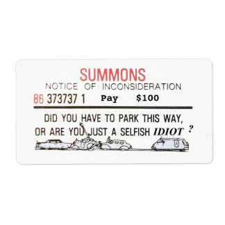 Bad Parking Summons