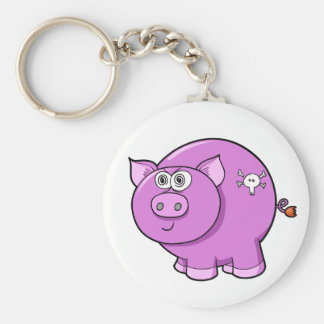 Bad Pig Button Basic Round Button Key Ring
