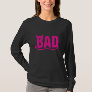 "Bad ""Pink"" with Devil's Horn and Tail T-Shirt"