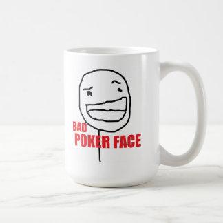 Bad Poker Face Basic White Mug