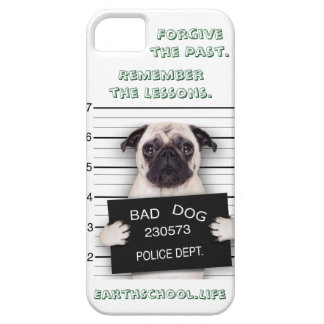 "Bad Pug. ""Forgive the Past. Remember the Lessons."" Case For The iPhone 5"