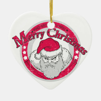 Bad Santa Christmas Ornament