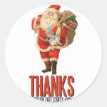 Bad Santa Rob Your House Round Sticker